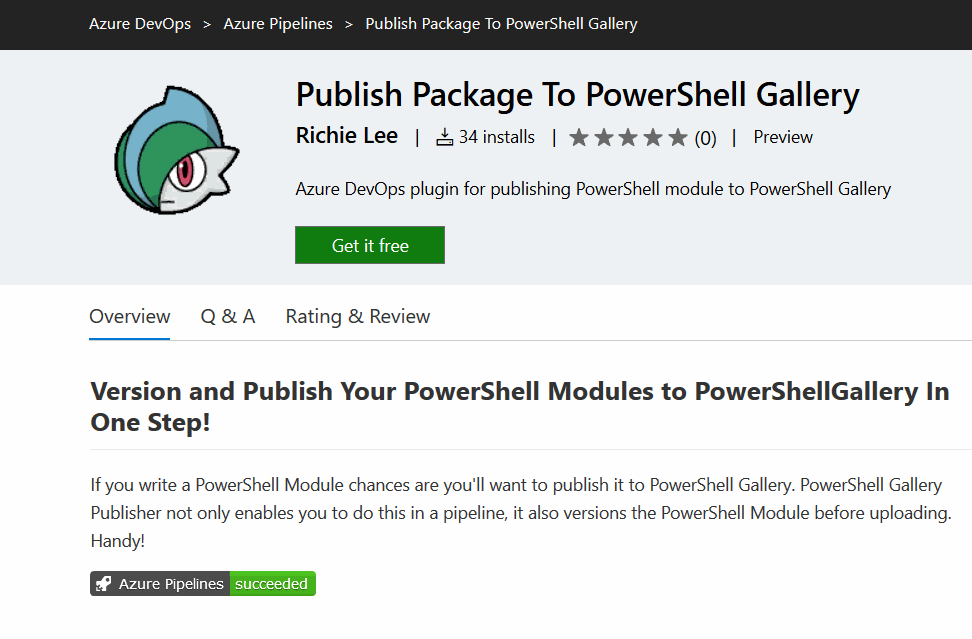 build has run and badge is passed